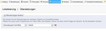 Übersetzungen - PrestaShop - Theme