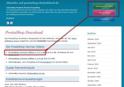 Download PrestaShop