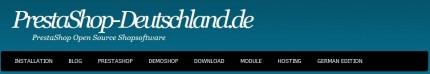 PrestaShop Deutschalnd: Kopf der Website