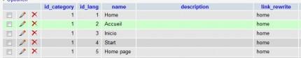 Ausschnitt aus der Tabelle ps_categories_lang