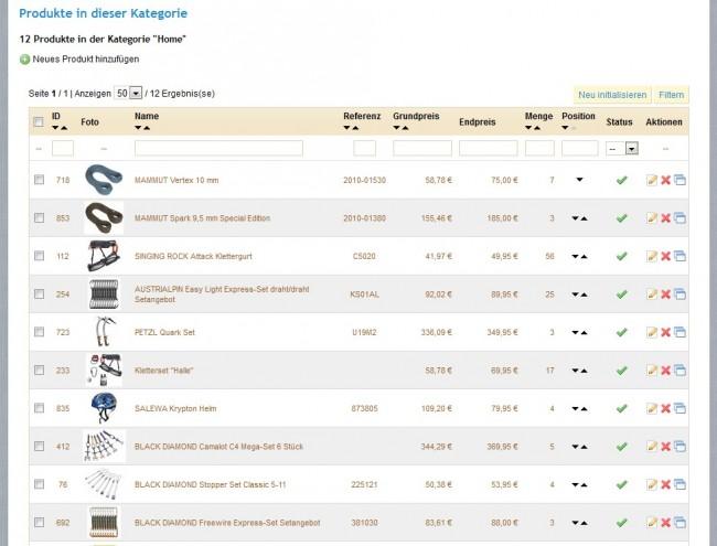 Produkte im Katalog