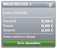 Anzeige-Blockcart