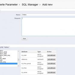 SQL-Manager, Abfragen zusammenstellen