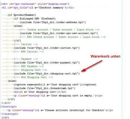OPC Template für die JOCOB-Buttonlösung