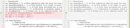 Vergleich von product.tpl aus gc-default mit theme481