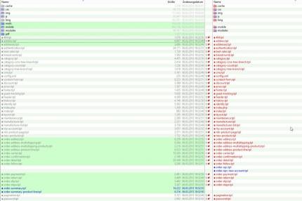 Order, Adress und weitere Template-Dateien müssen hochgeladen werden