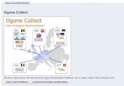 Zahlungsarten für Ogone Collect installieren